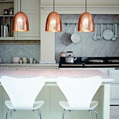 Ah, the old pendant trio ploy… Somehow it's even more fabulous in glorious copper…