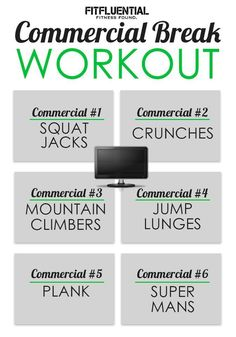 Lose Fat Fast - Commercial Break workout - Do this simple 2 -minute ritual to lose 1 pound of belly fat every 72 hours Killer Workouts, Toning Workouts, Fun Workouts, Lose Fat Fast, Lose Body Fat, Commercial Break Workout, Tv Show Workouts, Gym Tips, Strength Workout