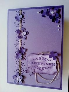 Stampin' Up bordering blooms birthday card.