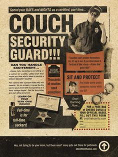 Couch Security Guard Security Training, Security Guard, Couch, Humor, My Love, Ads, My Boo, Sofa, Cheer