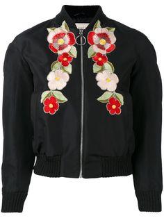 Gucci 플로럴 자수 보머 재킷