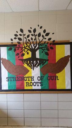 Black History Month bulletin board 2015