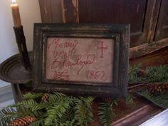 Early Primitive Looking 1862 Christmas Sampler Lb | eBay