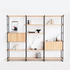 We are Studio HENK, a Dutch furniture design studio. - We are Studio HENK, a Dutch furniture design studio. Inspired by everyday moments, we make furnitur - Glass Bookshelves, Modular Bookshelves, Metal Bookcase, Bookshelf Design, Interior Design Companies, Home Interior Design, Home Design, Modular Cabinets, Muebles Living