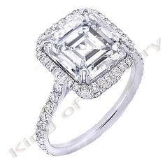 2.7 Ct. Asscher Cut Diamond Engagement Ring (GIA Certified) $13,425.00