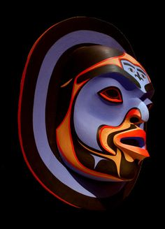 Tlingit Mask, Native Americans of NW Coast of Alaska/British Columbia Inuit Kunst, Arte Inuit, Arte Haida, Haida Art, Inuit Art, Arte Tribal, Tribal Art, Native American Masks, Tlingit