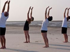 A look at the health benefits generated by the ancient practice of surya namaskar, the sequence of yoga postures that comprise the Indian traditional Sun Salutation Yoga Benefits, Health Benefits, Arm And Shoulder Muscles, Photo Yoga, Ways To Manage Stress, Shoulder Tension, Surya Namaskar, Improve Posture, Yoga Poses For Beginners