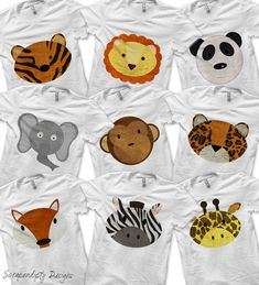 Zoo Bundle Pack - Toddler Zoo Birthday Party Favors / Kids School Zoo Trip / Boys Zebra Shirt / Girls Panda Tshirt / Baby Leopard Outfit by ScrapendipityDesigns