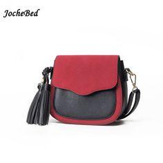1853efe39941 New Tassel Shoulder Messenger Bag Lady Saddle Bag Matte Color Shoulder Bags  Mobile Phone Bag Female Cute PU Leather Small Bag