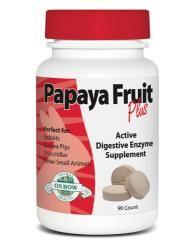 Fruit Plus zawiera aktywne enzymy. Wytworzone z najświeższych owoców papai oraz ananasa (naturalnego źródła enzymów trawiennych). Jedna tabletka zapewnia niezbędną ilość aktywnych enzymów, dużo większą niż przy spożyciu takiej samej ilości owocu papai. Weterynarze zalecają owoc papai oraz ananasa jako suplement diety wspomagający układ trawienny królika. Produkt nie zawiera cukru, nie zawiera sztucznych barwników. W 100% pozbawiony konserwantów. Bardzo smaczny suplement diety.