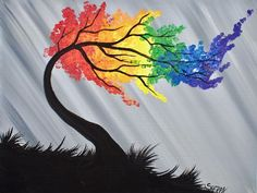Simple RAINBOW WILLOW Tree with Cotton swabs in Acrylic Paint on Canvas Step by step tutorial. Anyone can do this really easily. For the Traceable and Webpage ~ https://theartsherpa.com/tas170604.01