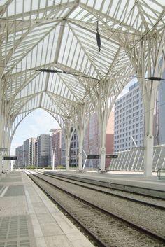 #Architecture in #Portugal - #TrainStation in #Lisbon by Santiago Calatrava