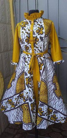 Designed by Dbea Fashion. Best African Dresses, Latest African Fashion Dresses, African Print Dresses, African Print Fashion, African Attire, African Fashion Traditional, African Print Dress Designs, Ghana Fashion, Punk Fashion