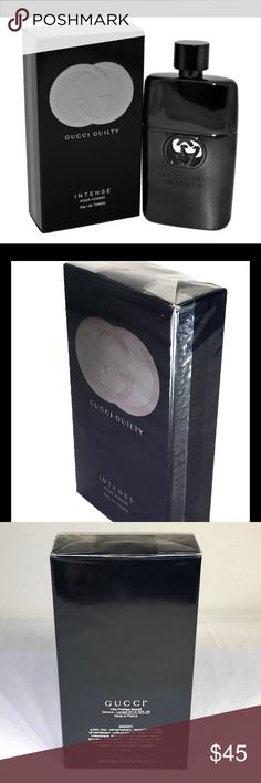 Gucci Guilty Intense Pour Homme SIZE 3 oz/ 90 mL Top Note: Lavender, Lemon Heart Note: Orange flower Base Note: Cedarwood, Patchouli .  Style: Audacious. Provocative. Alluring.   RETAIL $95 3.0 oz Gucci Other