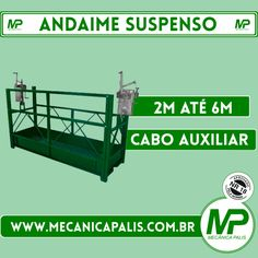 Andaime Suspenso, 2 à 6M, com cabo auxiliar. Conheça esse e outros produtos em nosso site! Acesse e confira: www.mecanicapalis.com.br