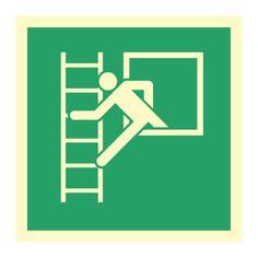 Rømningsstige - Kjøp Nødskilt online Symbols, Letters, Signs, Drawings, Shop Signs, Letter, Sketches, Lettering, Drawing