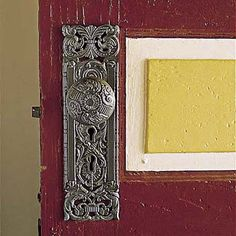 Love this old doorknob/doorplate!! Photo: Eric Piasecki | thisoldhouse.com | from A Victorian-Era House Turns Out to Be a Diamond in the Rough