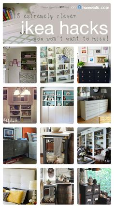 MUST PIN!  18 fabulous Ikea hacks!  #ikeahacks http://designertrapped.com/2014/07/fabulous-ikea-hacks.html