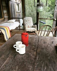 """""""This morning, with her, having coffee."""" - Johnny Cash when asked of his description of paradise.  #porchvibes in North Carolina. P: @lizzie_cochran #thecabinchronicles"""
