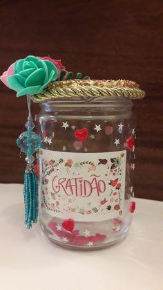Pote da Gratidão by Cássia Yoga For Kids, Fairy Lights, Snow Globes, Mason Jars, Scrap, Diy, Crafts For Children, Arts And Crafts, Money Saving Challenge