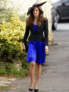 Kate Middleton wore a custom blue dress by Issa