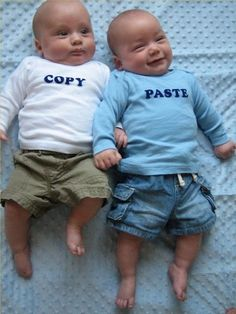 hehehe twins. get it?