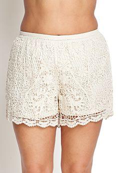 Floral Crochet Shorts | FOREVER21 PLUS - 2000102102