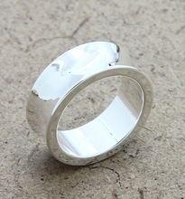 b3a15df35c9f Joyería de plata esterlina 925 anillos de plata para mujer hombre 925  superficie cóncava anillos de