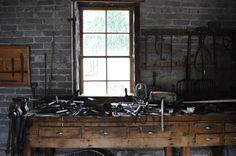 Blasksmith's workshop. Fielding Garr Ranch, Antelope Island, Utah - By @Penelope Lolohea