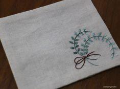 프랑스자수로 만든 컵받침 : 네이버 블로그 Handkerchief Embroidery, Baby Embroidery, Flower Embroidery Designs, Bead Embroidery Jewelry, Beaded Embroidery, Cross Stitch Embroidery, Embroidery Patterns, Diy Room Decor Videos, Fabric Coasters