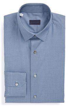 Lanvin Trim Fit Mini Check Dress Shirt