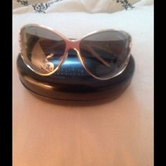 Roberto Cavalli Sunglasses Stunning silver frames with embellished snake arms with rhinestones in nice condition by Roberto Cavalli. Minor scratches on lenses, case included, great style, low price. Questions feel free to contact me. Roberto Cavalli Accessories Sunglasses
