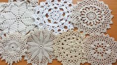 10 Natural Toned Vintage Crochet Doily by rachaelsscraps on Etsy