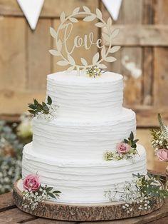 Cake topper ghirlanda legno love