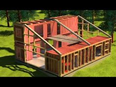 Shipping containers 702772716824356582 - Minus the wood and a double high on the other side Source by Sea Container Homes, Building A Container Home, Container Cabin, Storage Container Homes, Container House Design, Shipping Container Buildings, Shipping Container Home Designs, Shipping Containers, Modern Architecture Design