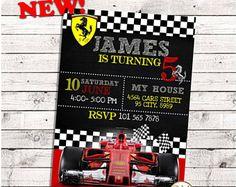 Ferrari cumpleaños, invitación de ferrari, partido de ferrari, invitación de cumpleaños de ferrari, invitan a ferrari, ferrari tarjeta, coches ferrari, ferrari tarjeta