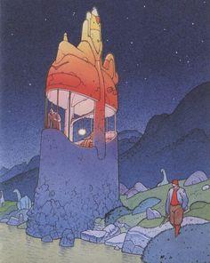 Strange World #moebius #illustration #comics