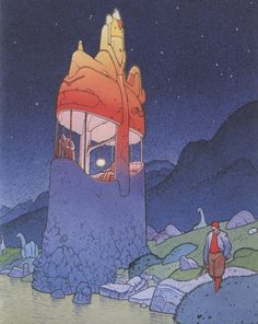 Strange World #moebius #illustration #comics