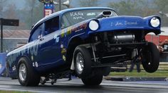 2012 Jalopy Showdown Drags Steve Crook Blew By You '56 Chevy AA/Gasser N...