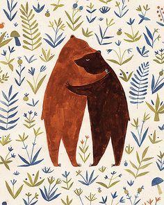 Výsledek obrázku pro Bear hug illustration