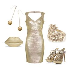 Women's outfit ideas - date night - girl's night out - club outfit - Solid gold