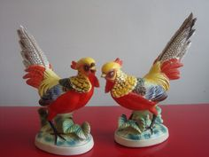 Vintage Pair Of Pheasants Made By Art Mark of by PlayfullyVintage,