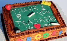 Great Christmas thank you. Teacher Birthday Cake, Teachers Day Cake, Teacher Cakes, Graduation Cake, Cupcakes, Cupcake Cakes, How To Use Fondant, Thank You Cake, Pirate Ship Cakes