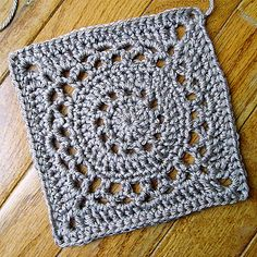 Free download from Ravelry - Circled Granny Square