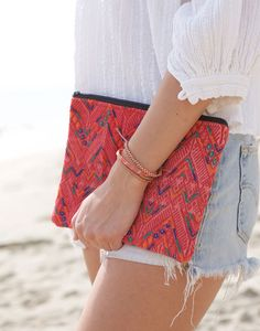 one-of-a-kind woven cosmetic bag from The Little Market