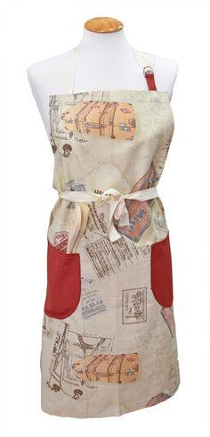 Delantal mod. Vintage, dos bolsillos