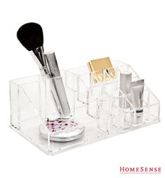 HomeSense has a fine selection of Bed and Bath & Home Décor products at great prices. Find a HomeSense store near you. Vanity Organization, Storage Organization, Storage Ideas, Homesense, Personal Organizer, Beauty Box, Interior Accessories, Getting Organized, Decoration
