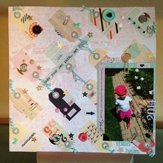 Society 52 challenge inspired layout with creating a tag background