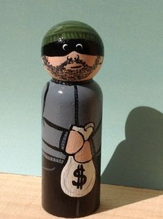 Robber Whittle by WinkysWhittles on Etsy, $15.00