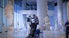 Acropolis Museum: Painting on Marble